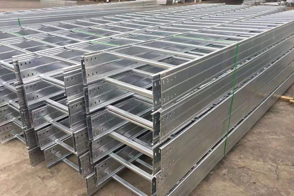 Ladder type aluminum alloy cable tray